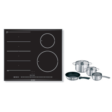 Bosch H51xW606xD527 FlexInduction 4 Zone Hob - Black - PIN675N17E