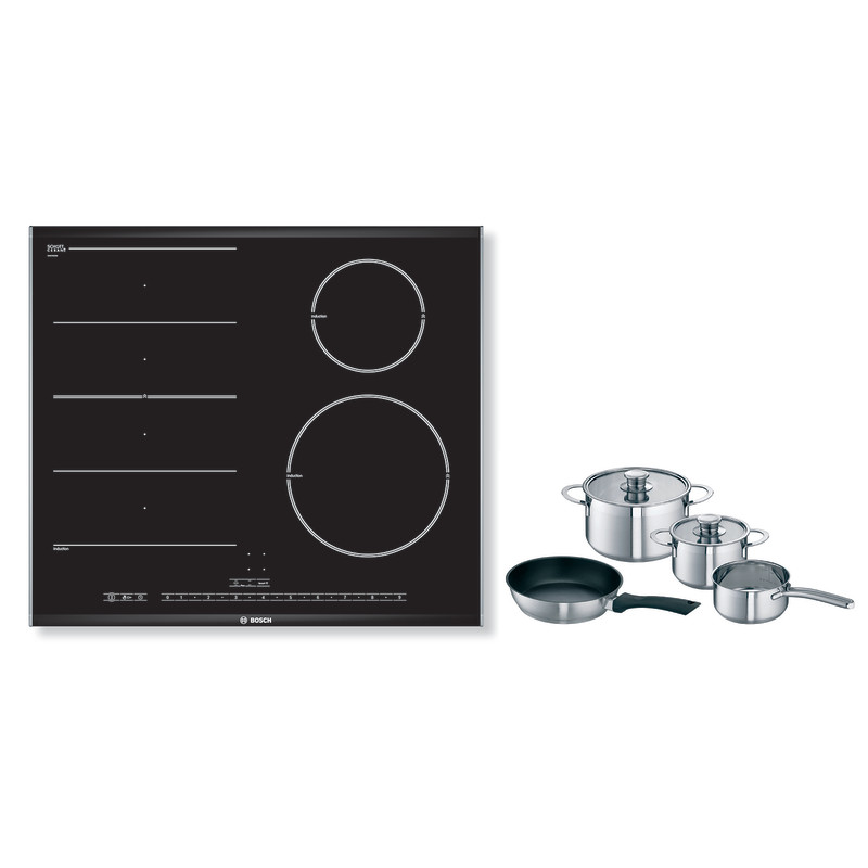 Bosch H51xW606xD527 FlexInduction 4 Zone Hob - Black - PIN675N17E primary image