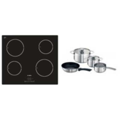 Bosch H51xW592xD522 Induction 4 Zone Hob - Black - PIA611B68B