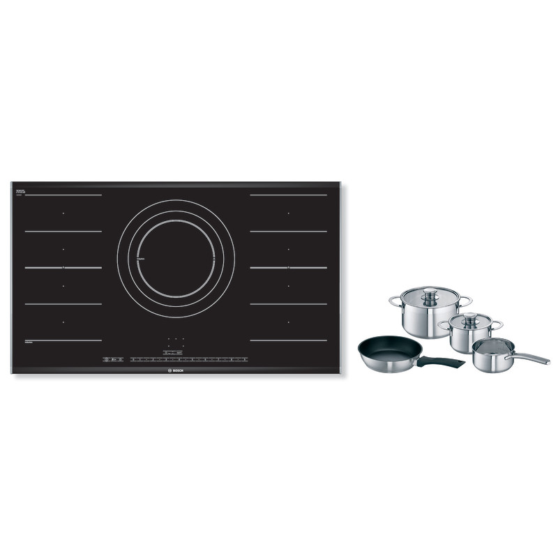 Bosch H51xW916xD527 FlexInduction 5 Zone Hob - Black primary image