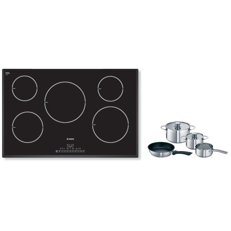 Bosch H51xW802xD522 Induction 5 Zone Hob - Black primary image