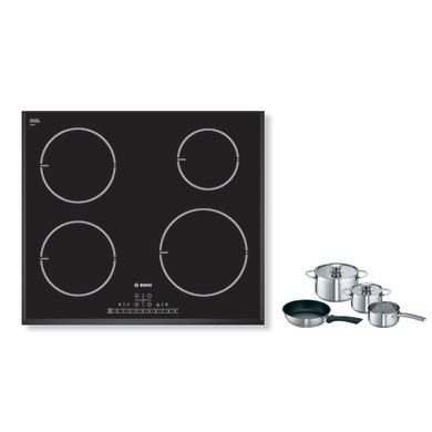 Bosch H51xW592xD522 Induction 4 Zone Hob - Black