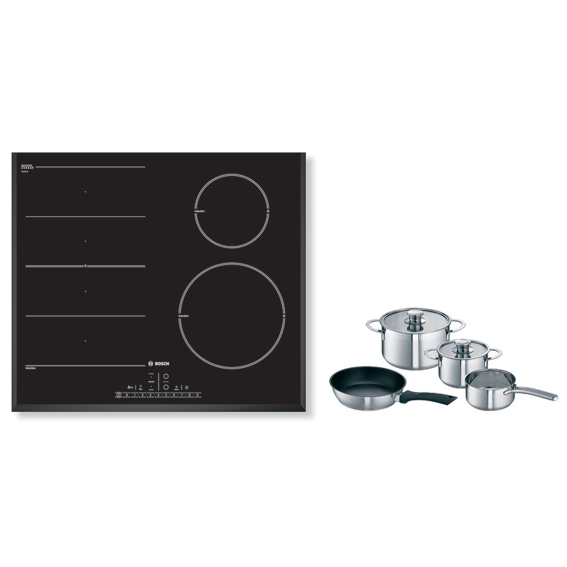 Bosch H51xW592xD522 FlexInduction 4 Zone Hob - Black - PIN651F17E primary image
