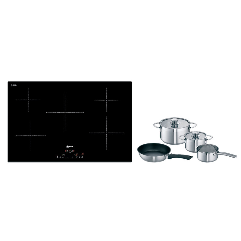 Neff H51xW802xD522 Induction 5 Zone Hob - Black Glass primary image