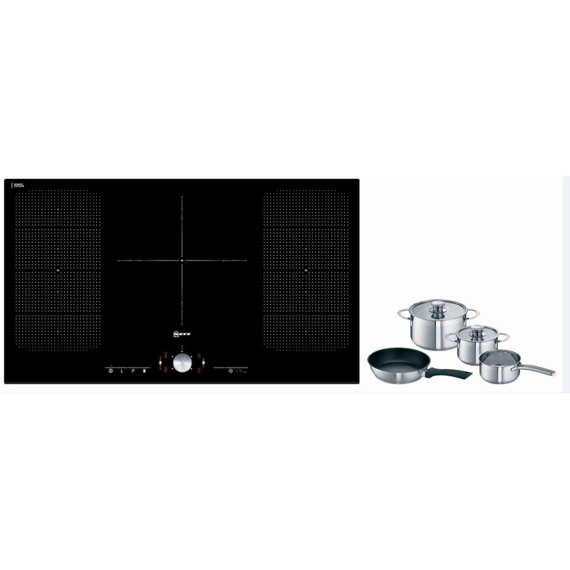 Neff H51xW918xD546 Induction 5 Zone Hob - Black Glass - T51T95X2 primary image