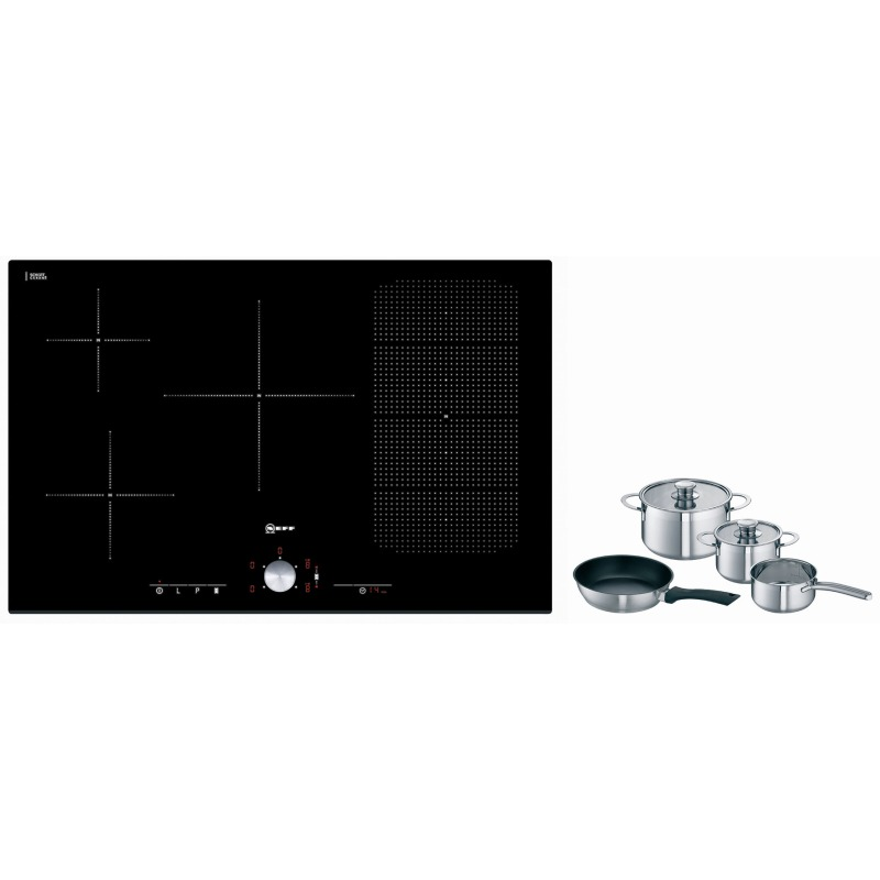Neff H51xW802xD522 Induction 4 Flexi Zone Hob - Black Glass - T51T86X2 additional image 1