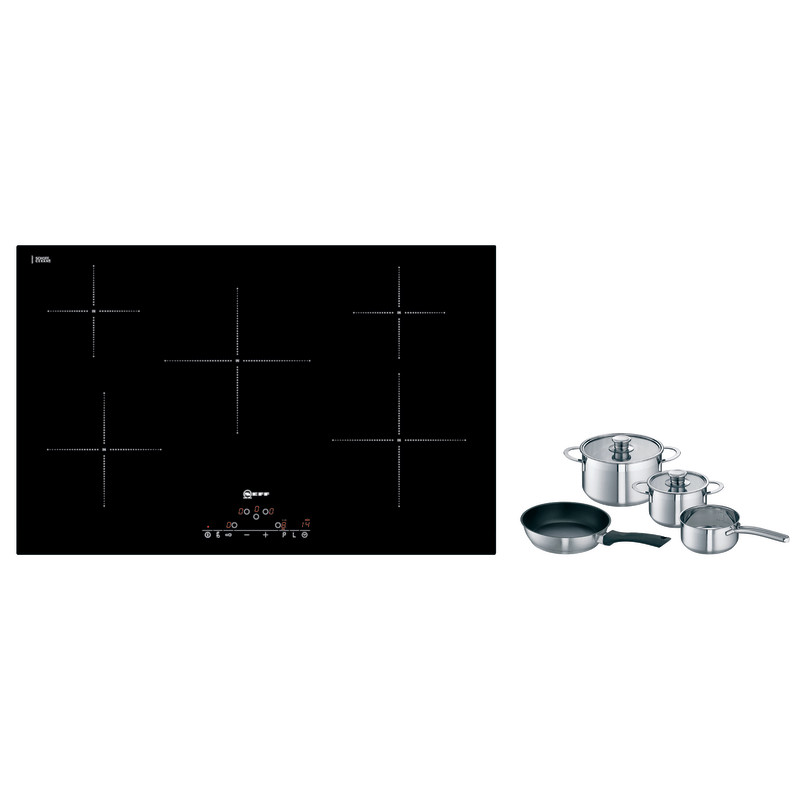 Neff H56xW792xD512 Induction 4 Zone Hob - Black Glass primary image