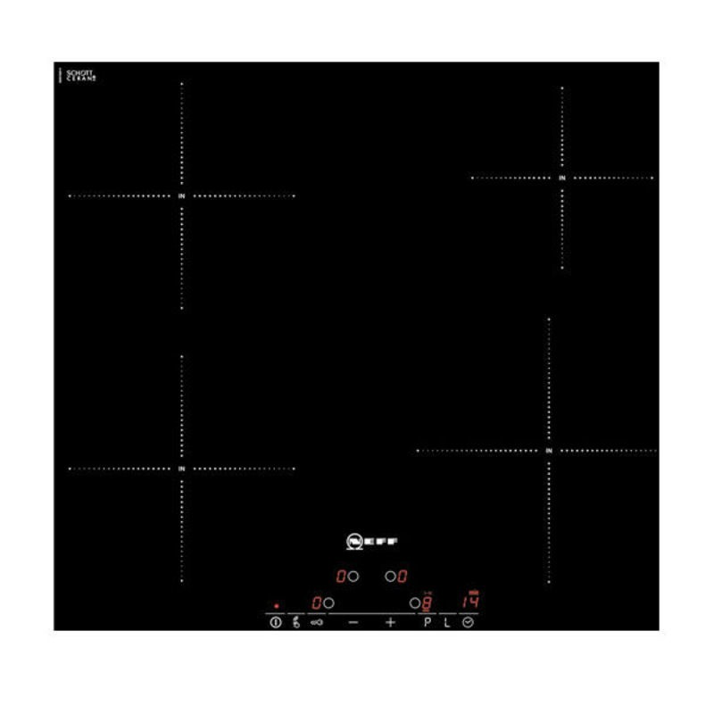 Neff H56xW572xD512 Induction 4 Zone Hob - Black Glass primary image