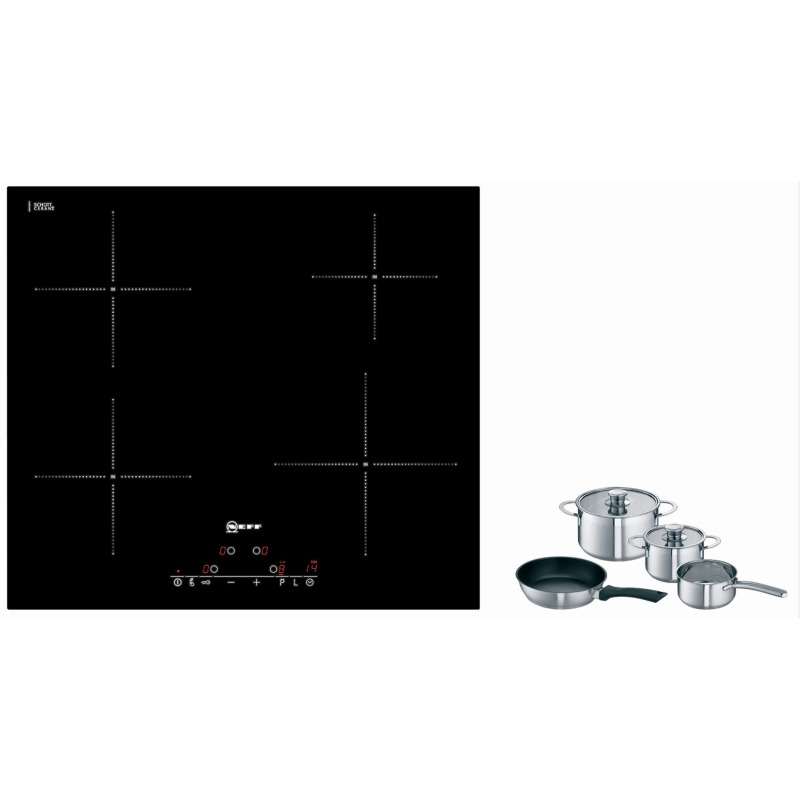 Neff H51xW592xD522 Induction 4 Zone Hob - Black Glass primary image