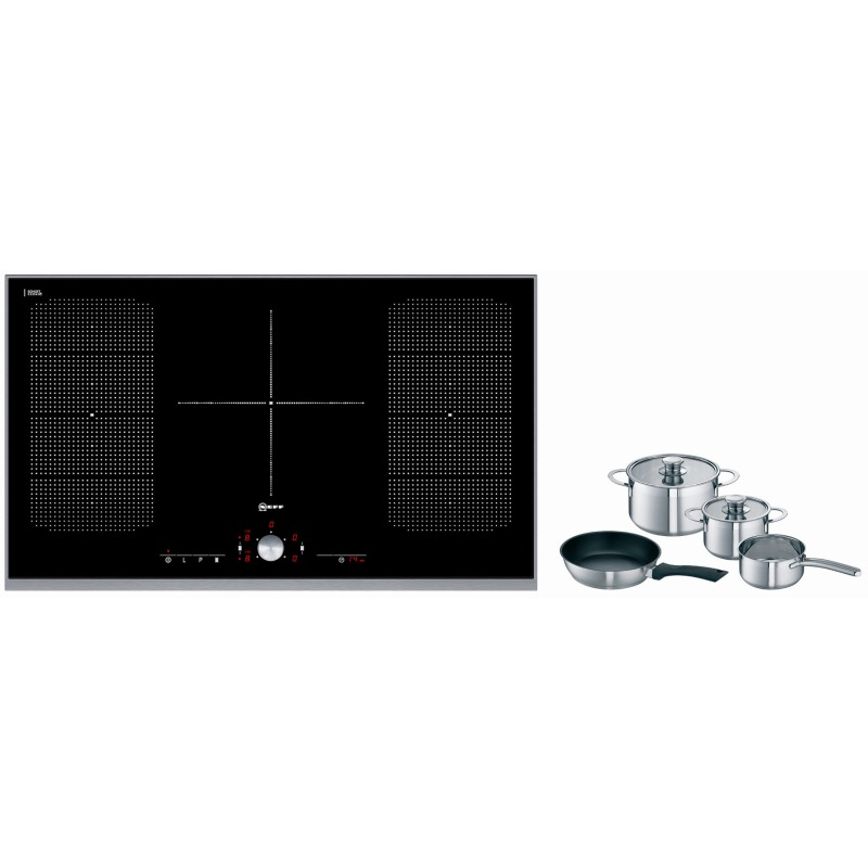 Neff H51xW918xD546 FlexInduction 5 Zone Hob - Black Glass - T54T95N2 additional image 1
