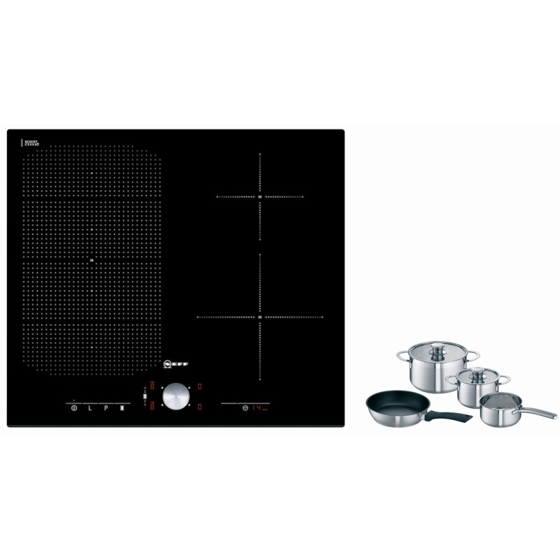 Neff H51xW592xD522 FlexInduction 4 Zone Hob - Black Glass additional image 1