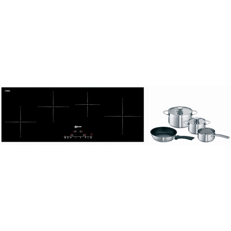 Neff H56xW892xD342 Induction 4 Zone Hob - Black Glass - T45D90X2 primary image