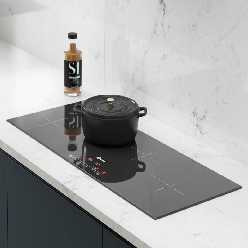 Neff H56xW892xD342 Induction 4 Zone Hob - Black Glass - T45D90X2 additional image 2