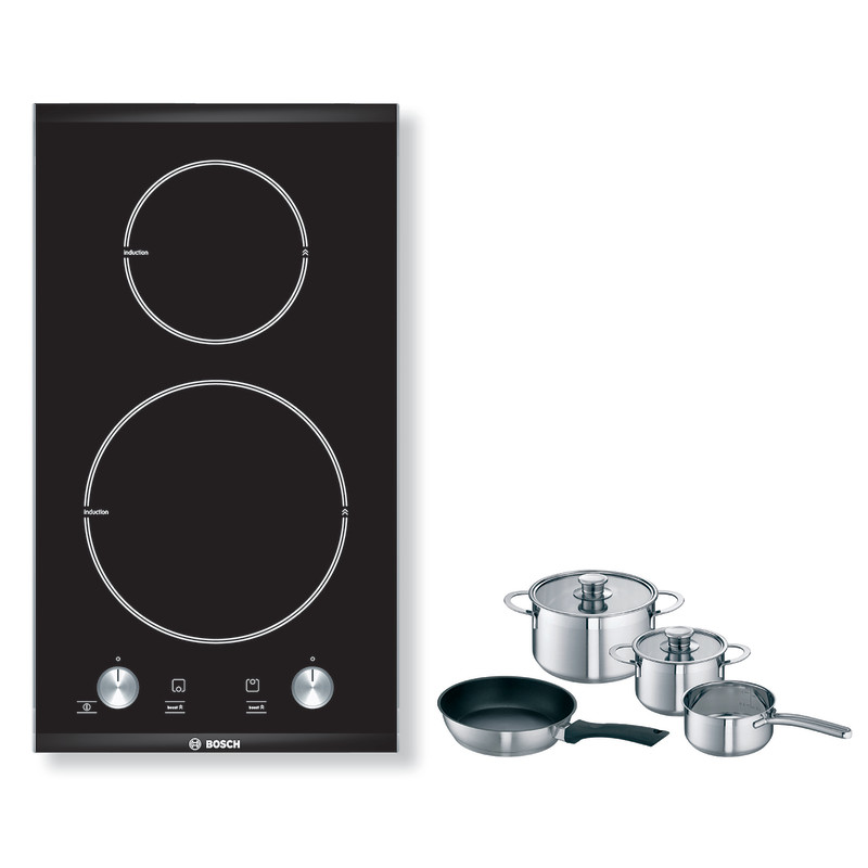 Bosch H51xW306xD527 Induction 2 Zone Hob - Black primary image