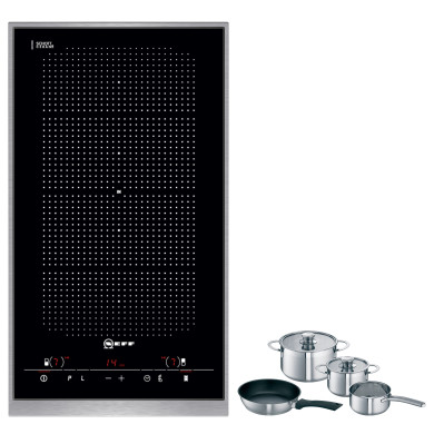 Neff H51xW306xD546 FlexInduction 2 Zone Hob - Black Glass - N54D30N2