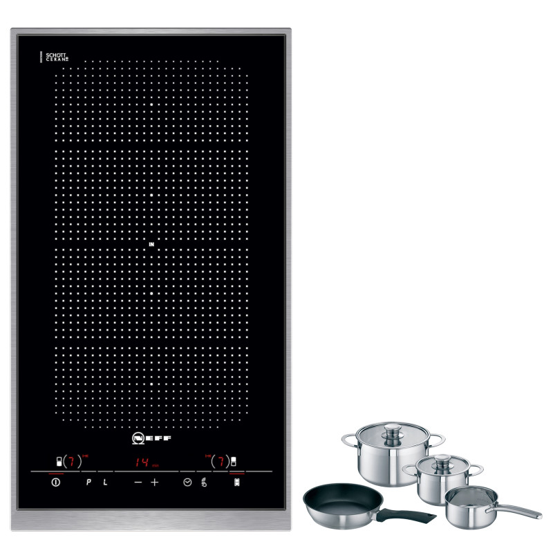 Neff H51xW306xD546 FlexInduction 2 Zone Hob - Black Glass - N54D30N2 primary image