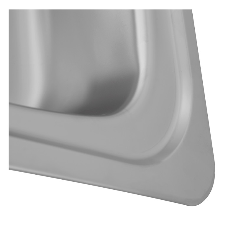 465x915 Tudor LHD S/Steel Sink and Lever Pillar Tap Pack additional image 2