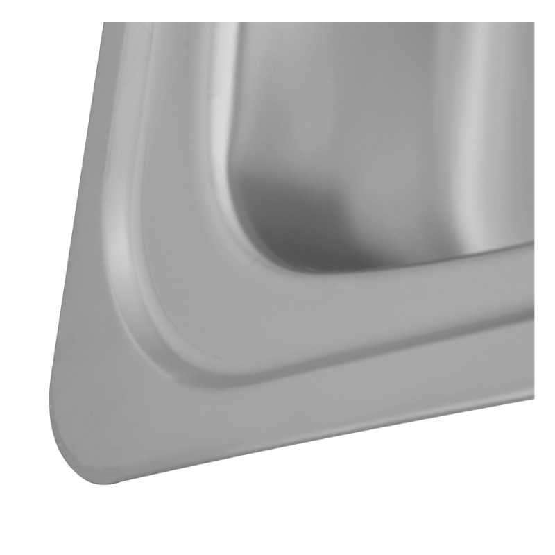 935x485 Tudor RHD S/Steel Sink and Lever Pillar Tap Pack additional image 4