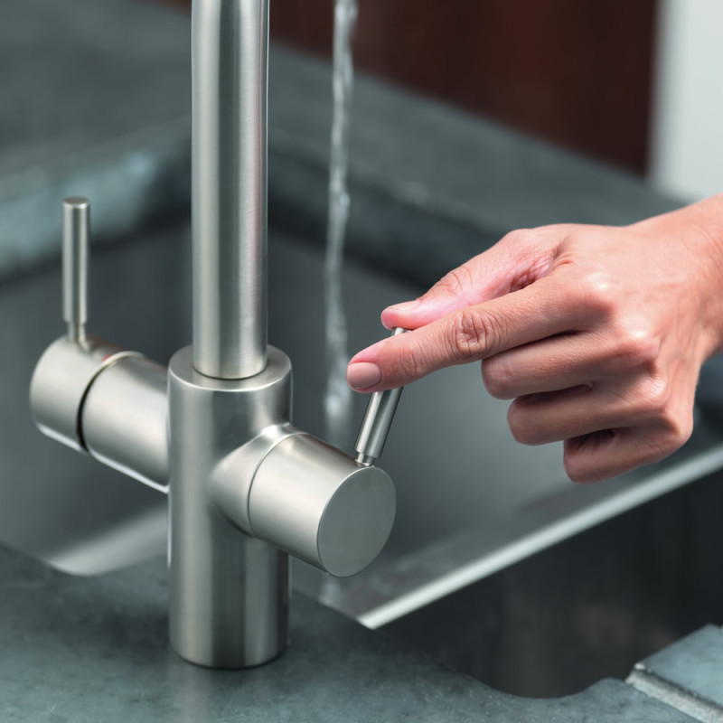 Insinkerator 3N1 Swan Neck Hot Water Tap Brushed Steel additional image 1