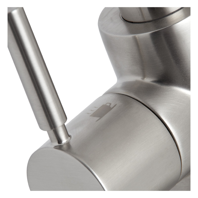 Insinkerator 3N1 Swan Neck Hot Water Tap Brushed Steel additional image 4