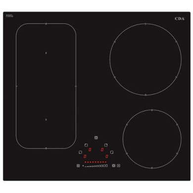 CDA H55xW576xD518 4 Zone Bridged Induction Hob