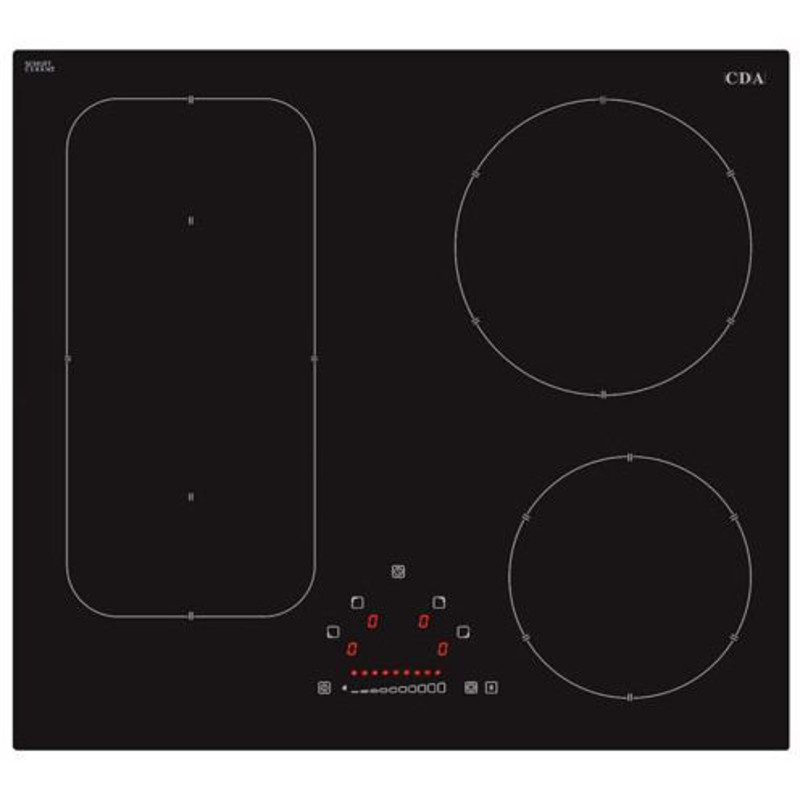 CDA H55xW576xD518 4 Zone Bridged Induction Hob primary image