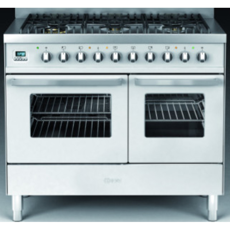 Ilve Venezia 100cm Twin Range Cooker 6 Burner Stainless Steel - KD1006WE3/I additional image 1