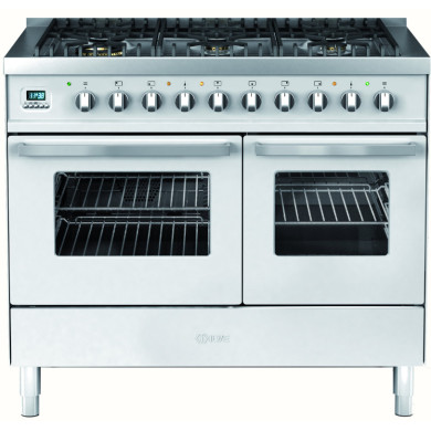 Ilve Venezia 100cm Twin Range Cooker 6 Burner Stainless Steel - KD1006WE3/I
