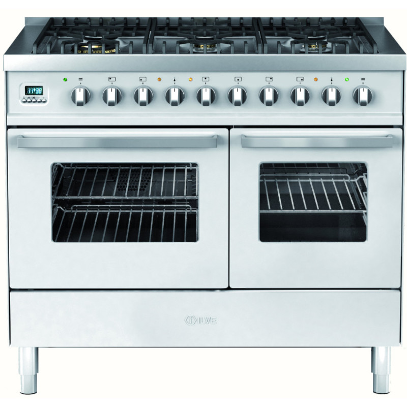 Ilve Venezia 100cm Twin Range Cooker 6 Burner Stainless Steel - KD1006WE3/I primary image