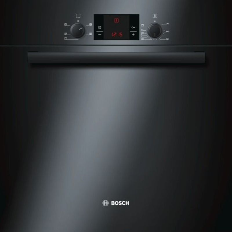 Bosch H595xW595xD548 Electric Single Fan Oven - Black - HBA13B160B primary image