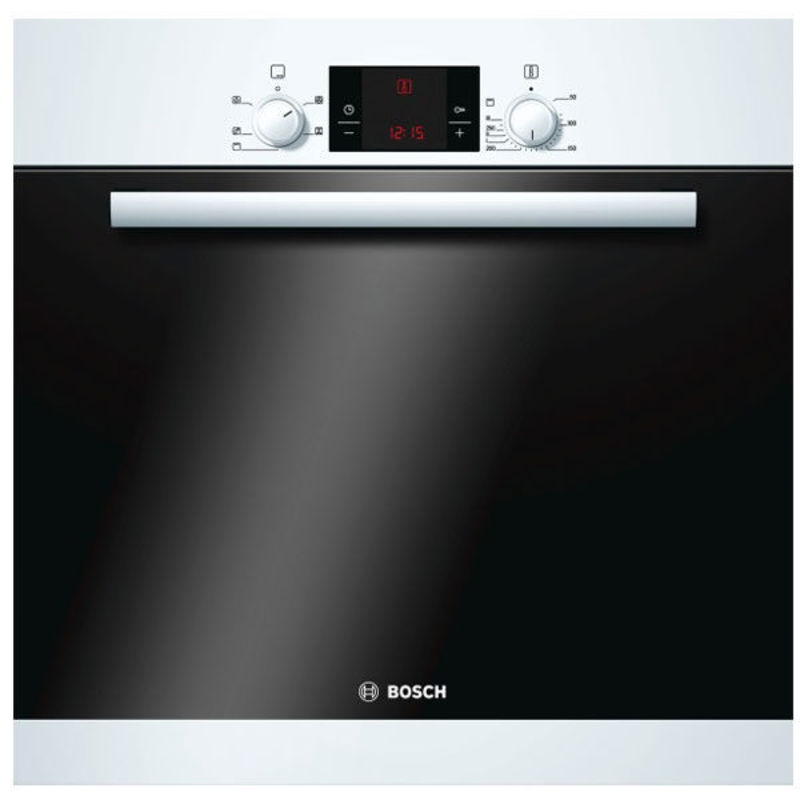 Bosch H595xW595xD548 Electric Single Fan Oven - White primary image