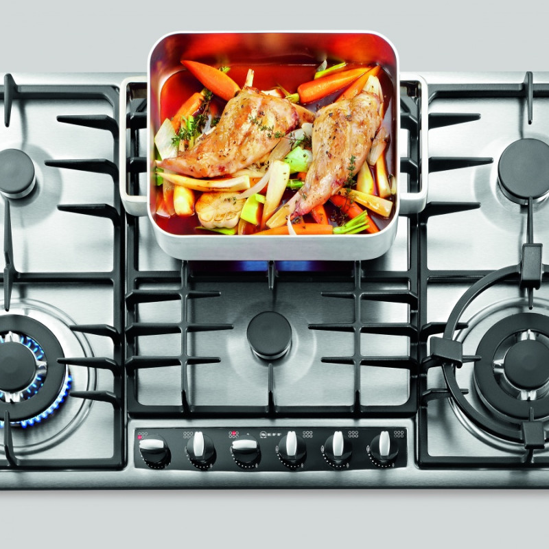 Neff H45xW915xD520 Gas 6 Burner Hob - Stainless Steel additional image 1