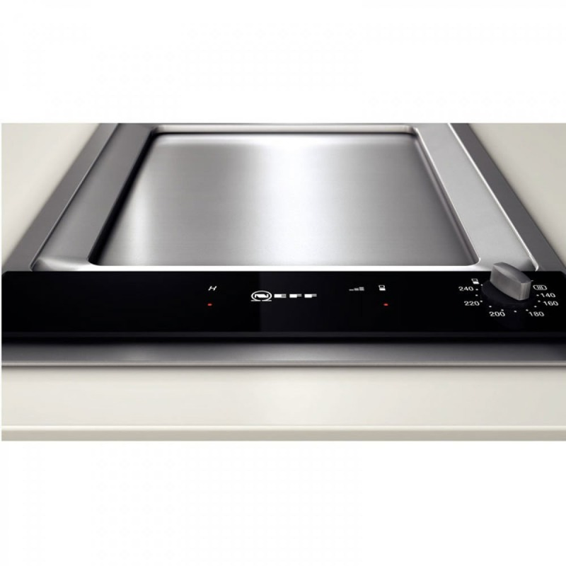 Neff H90xW396xD546 Solid Plate 1 Burner Hob - Stainless Steel additional image 2