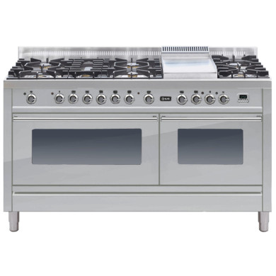 ILVE Roma 150cm Range Cooker  6 Burner Fish and Fry Top Stainless Steel - PW150FE3/I
