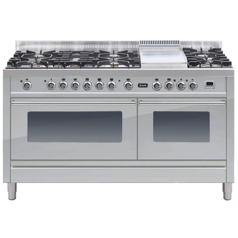 ILVE Roma 150cm Range Cooker  6 Burner Fish and Fry Top Stainless Steel - PW150FE3/I primary image