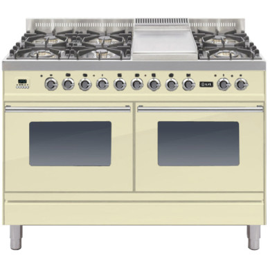 ILVE Roma 120cm Range Cooker  6 Burner Fry Top Cream - PDW120FE3/A