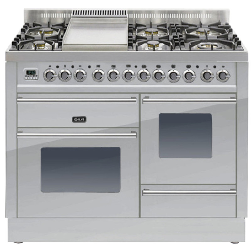 ILVE Roma 110cm XG Range Cooker  6 Burner Fry Top Stainless Steel primary image