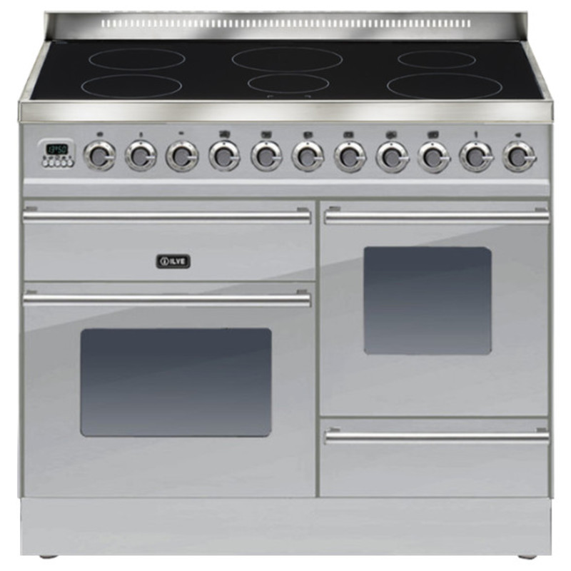 ILVE Roma 100cm XG Range Cooker  6 Zone Induction Stainless Steel - PTWI100E3/I primary image