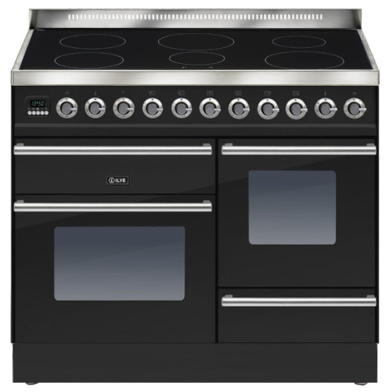 ILVE Roma 100cm XG Range Cooker  6 Zone Induction Gloss Black - PTWI100E3/N primary image