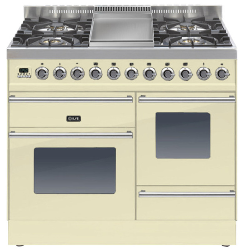 ILVE Roma 100cm XG Range Cooker  4 Burner Fry Top Cream primary image