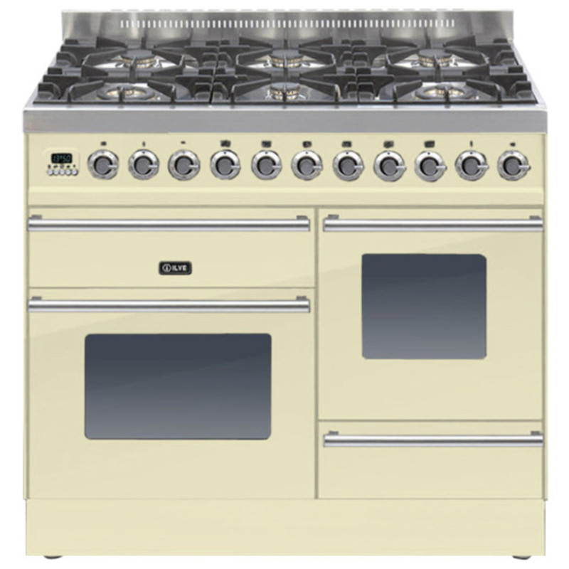 ILVE Roma 100cm XG 6 Range Cooker Burner Cream - PTW1006E3/A primary image