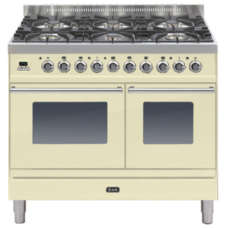ILVE Roma 100cm Twin Range Cooker 6 Burner Cream primary image