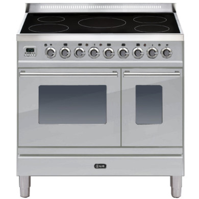 ILVE Roma 90cm Twin Range Cooker 5 Zone Induction Stainless Steel