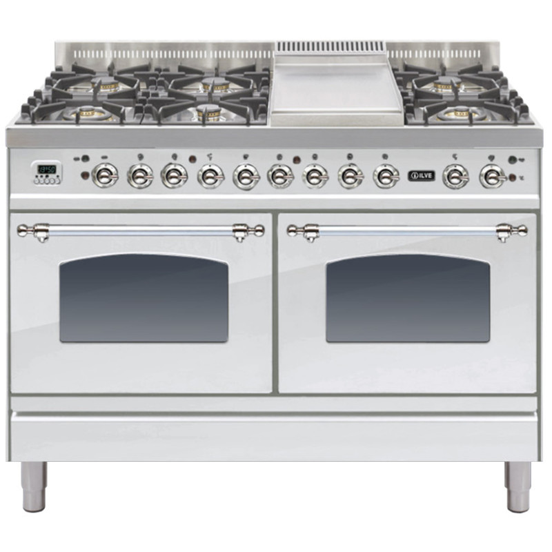ILVE Milano 120cm Range Cooker 6 Burner Fry Top Stainless Steel Chrome - PDN120FE3/IX primary image