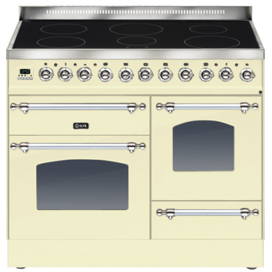 ILVE Milano 100cm XG Range Cooker 6 Zone Induction Cream Chrome - PTNI100E3/AX