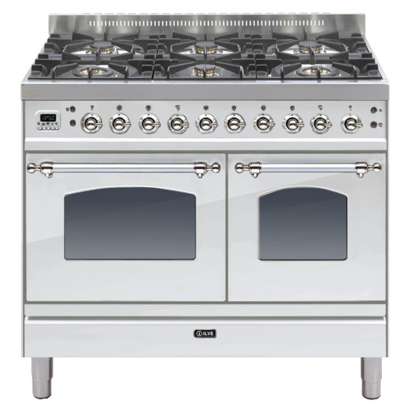 ILVE Milano 100cm Twin Range Cooker 6 Burner Stainless Steel Chrome - PDN1006E3/IX primary image