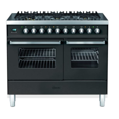 Ilve Venezia 100cm Twin Range Cooker 6 Burner Gloss Black - KD1006WE3/N