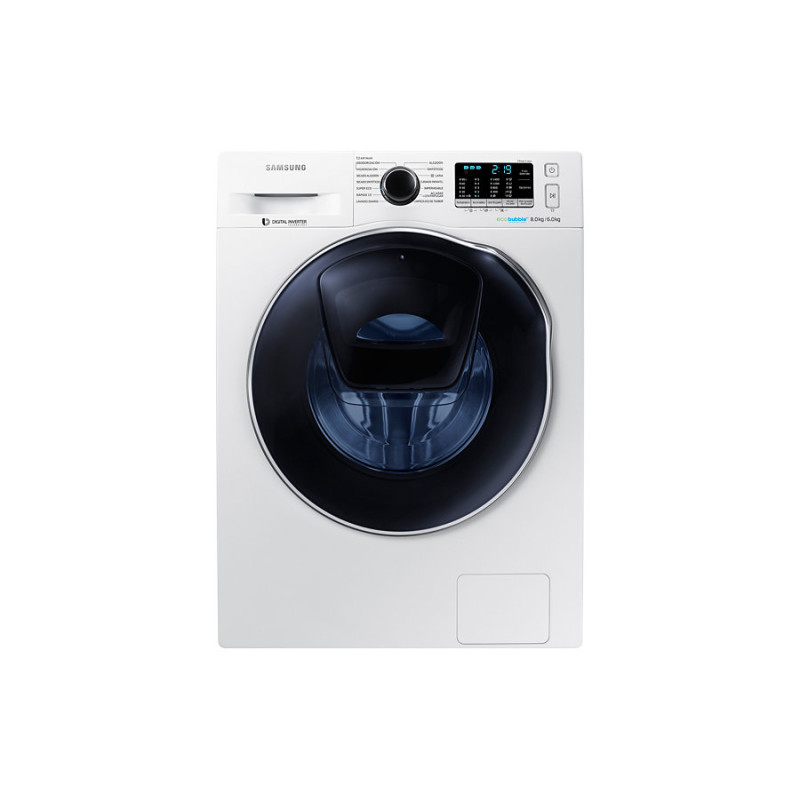 Samsung H850xW600xD600 Add Wash White Washer Dryer primary image