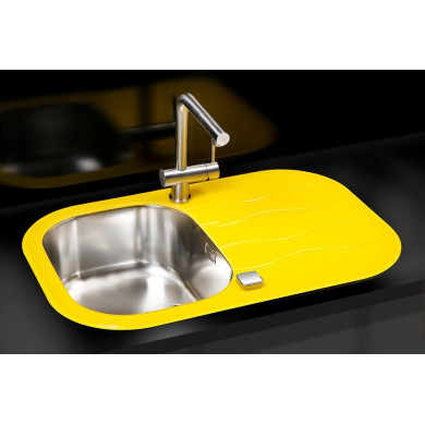 760x500 Rydal 1 Bowl RVS Round Yellow Glass