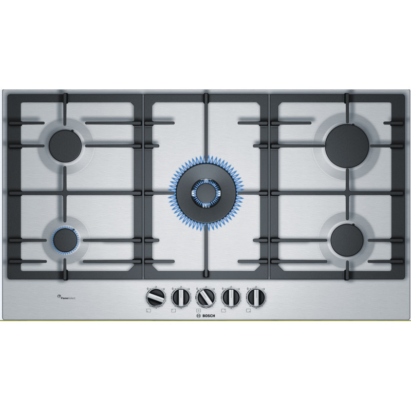 Bosch H45xW915xD520 Gas 5 Burner Hob With Flameselect-S/Steel primary image